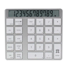 XtremeMac Aluminum bluetooth numerical & Calculator keypad with digital screen