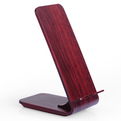 Wooden Charging Stand Qi 9V Wine Red