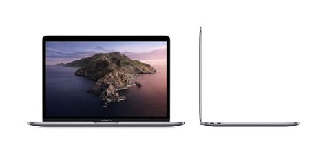 Macbook pro 13  inch with touch bar two thunderbolt 3 port spgry screen