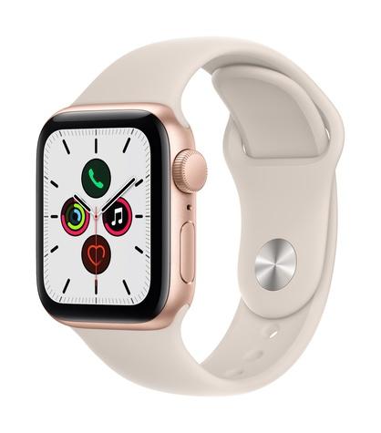Apple watch se gps 40mm gold aluminum starlight sport band 34fr screen  usen