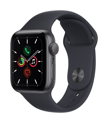 Apple watch se gps 40mm space gray aluminum midnight sport band 34fr screen  usen
