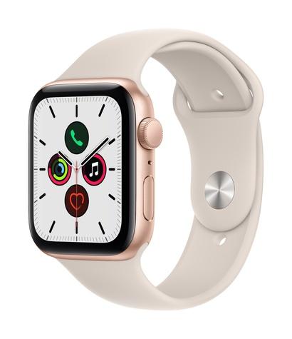 Apple watch se gps 44mm gold aluminum starlight sport band 34fr screen  usen