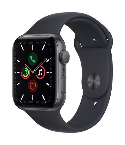 Apple watch se gps 44mm space gray aluminum midnight sport band 34fr screen  usen