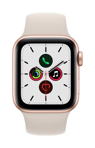 Apple watch se gps 40mm gold aluminum starlight sport band pure front screen  usen