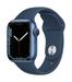 Apple watch series 7 gps 41mm blue aluminum abyss blue sport band 34fr screen  usen