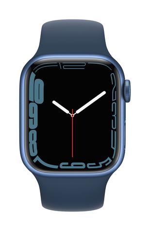 Apple watch series 7 gps 41mm blue aluminum abyss blue sport band pure front screen  usen