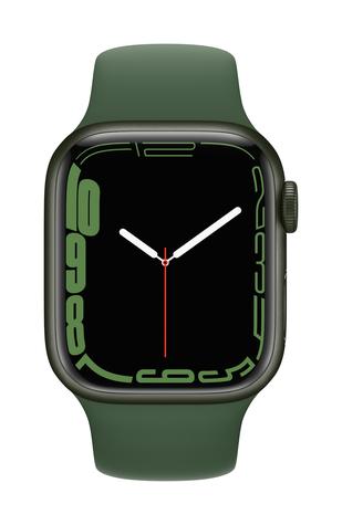 Apple watch series 7 gps 41mm green aluminum clover sport band pure front screen  usen