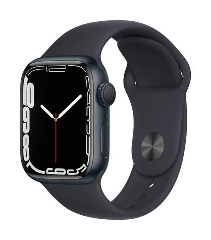 Apple watch series 7 gps 41mm midnight aluminum midnight sport band 34fr screen  usen