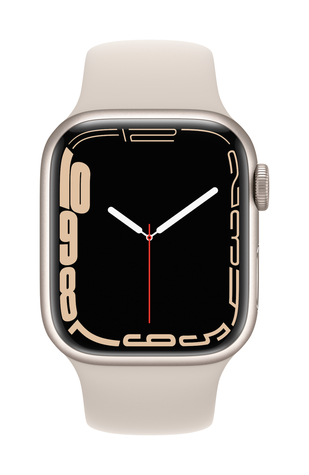 Apple watch series 7 gps 41mm starlight aluminum starlight sport band pure front screen  usen