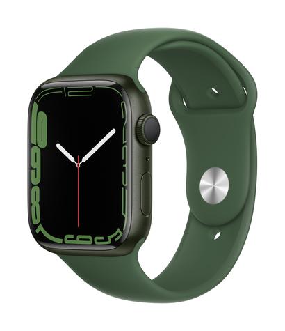 Apple watch series 7 gps 45mm green aluminum clover sport band 34fr screen  usen