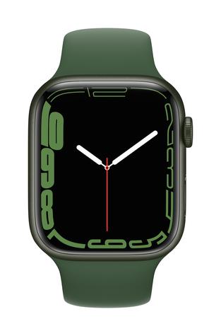 Apple watch series 7 gps 45mm green aluminum clover sport band pure front screen  usen