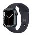 Apple watch series 7 gps 45mm midnight aluminum midnight sport band 34fr screen  usen