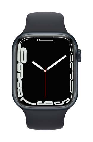 Apple watch series 7 gps 45mm midnight aluminum midnight sport band pure front screen  usen