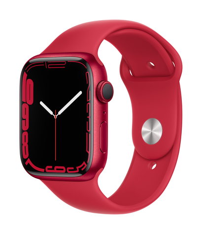 Apple watch series 7 gps 45mm product red aluminum product red sport band 34fr screen  usen