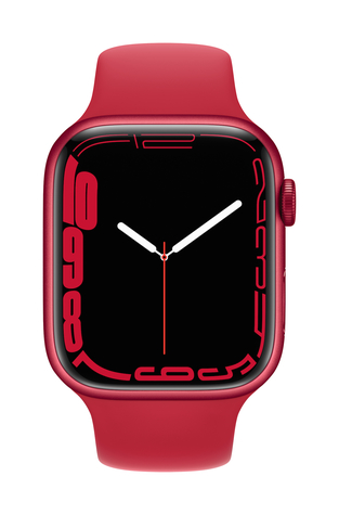Apple watch series 7 gps 45mm product red aluminum product red sport band pure front screen  usen