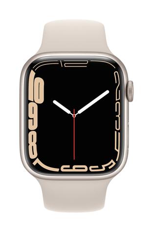 Apple watch series 7 gps 45mm starlight aluminum starlight sport band pure front screen  usen