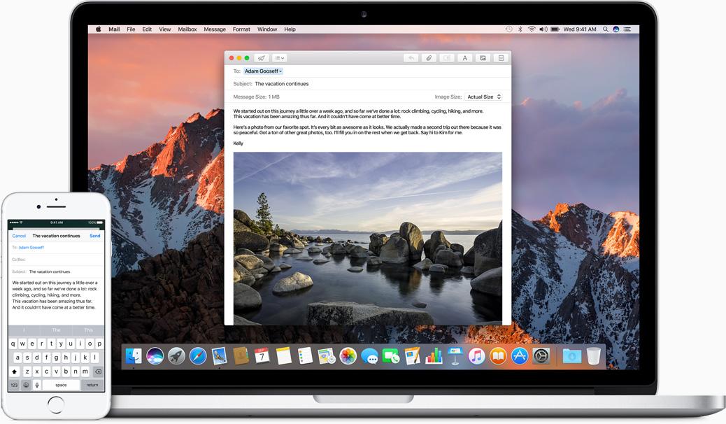 Apple zasto mac akcija kontinuitet